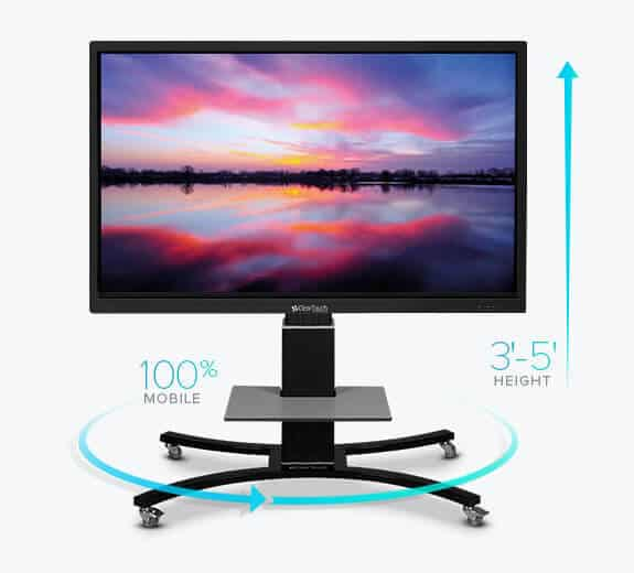 clear touch interactive panels adjustable mobile stand