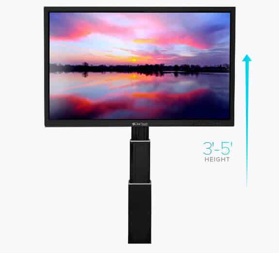 clear touch adjustable wall mount