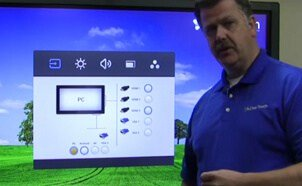 changing sources on clear touch panel