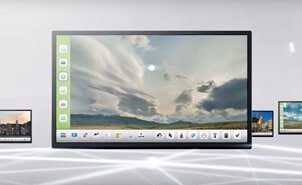 clear touch interactive displays for educators